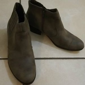 Kim Rogers taupe booties